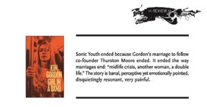 subTerrain's review of Girl in a Band by Kim Gordon.